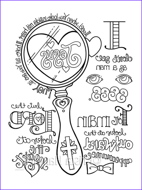 look in my heart coloring page 85x11
