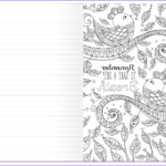 Coloring Journal Elegant Collection Coloring Book Journal