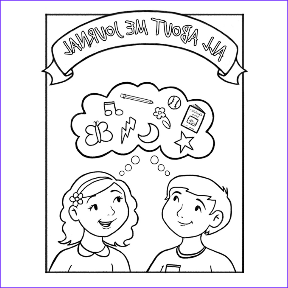 all about me childrens coloring journal