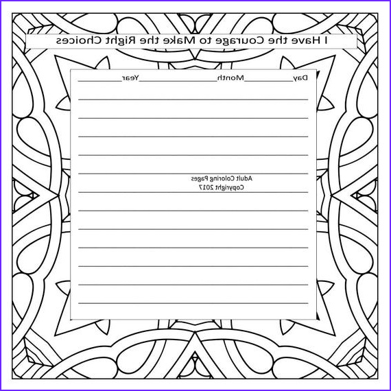 affirmation journal and coloring page