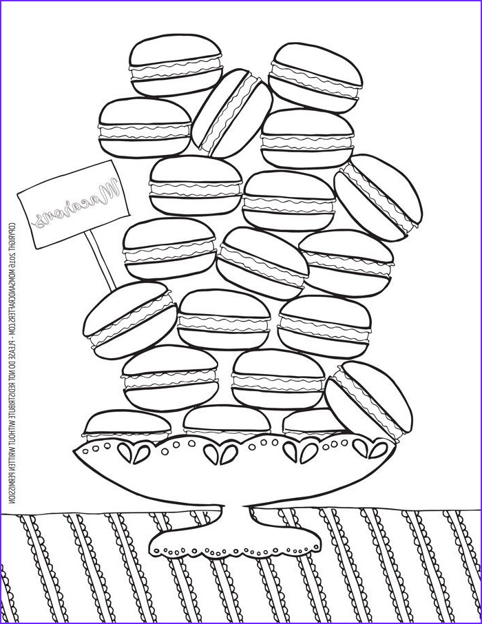 Coloring Macarons Cool Photos Macarons Coloring Page Download Coloring Pages