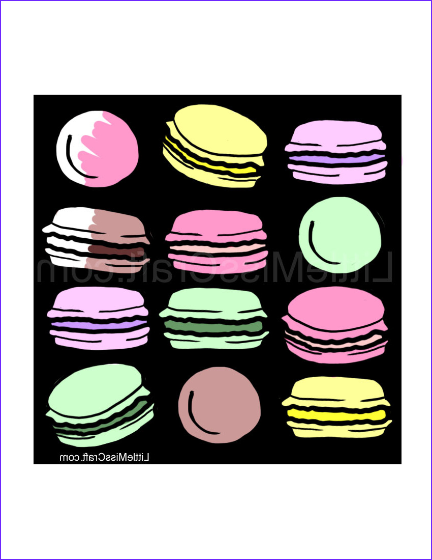 French Macarons Chalkboard Coloring Page 318 1