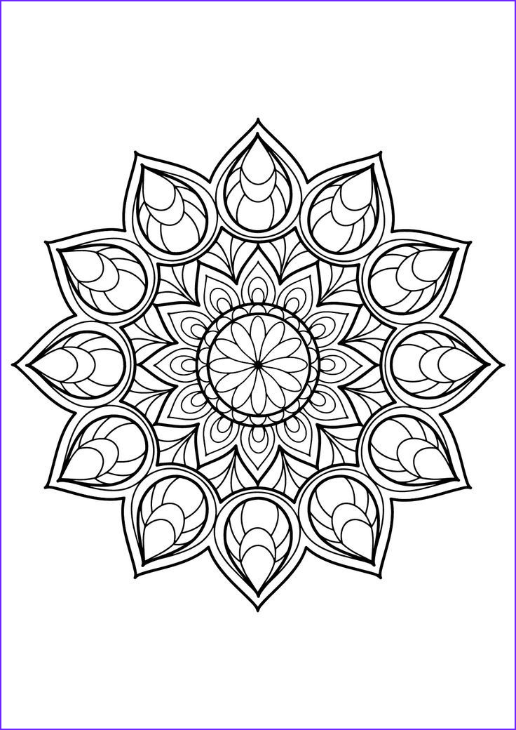 Coloring Mandalas Luxury Photos Magnificent Mandala From Free Coloring Book for Adults