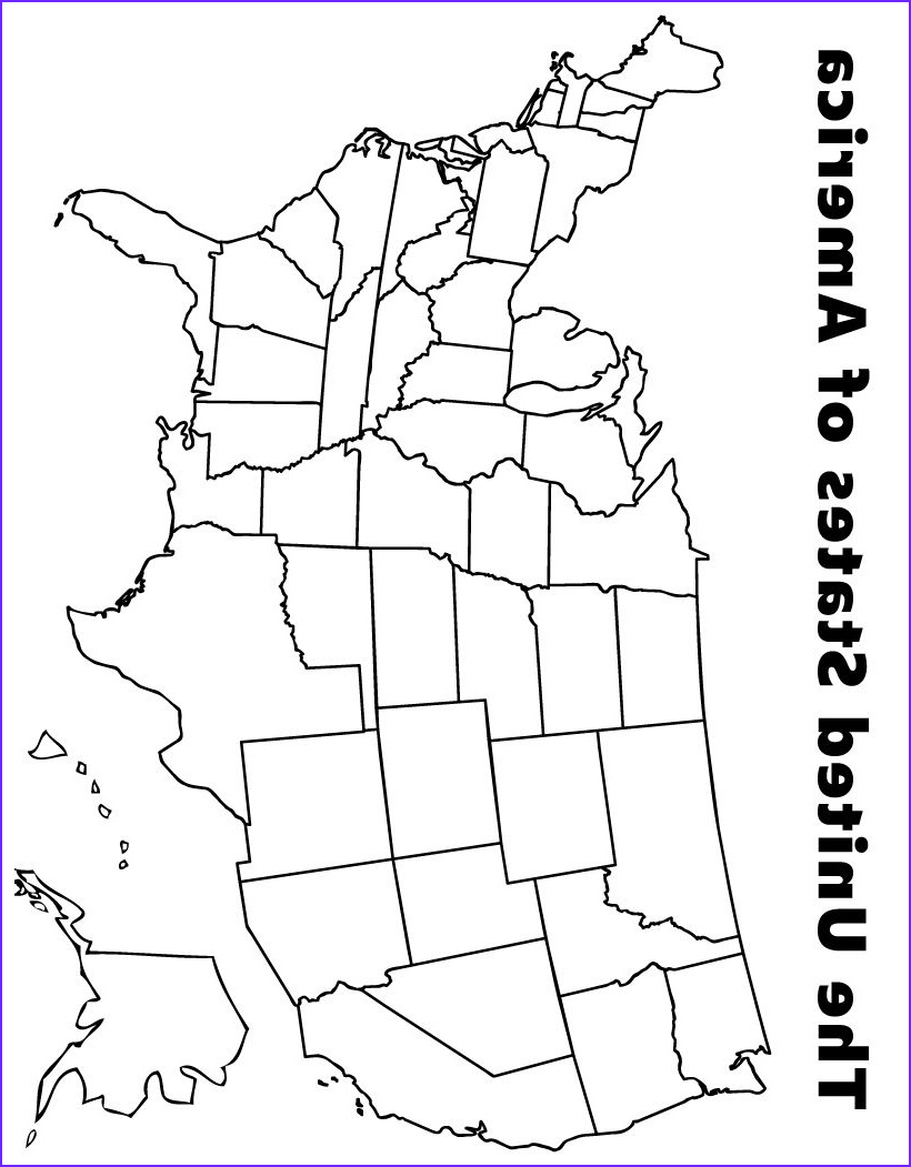 Coloring Map Of Usa Beautiful Gallery Map Of the Usa Coloring Page Kids