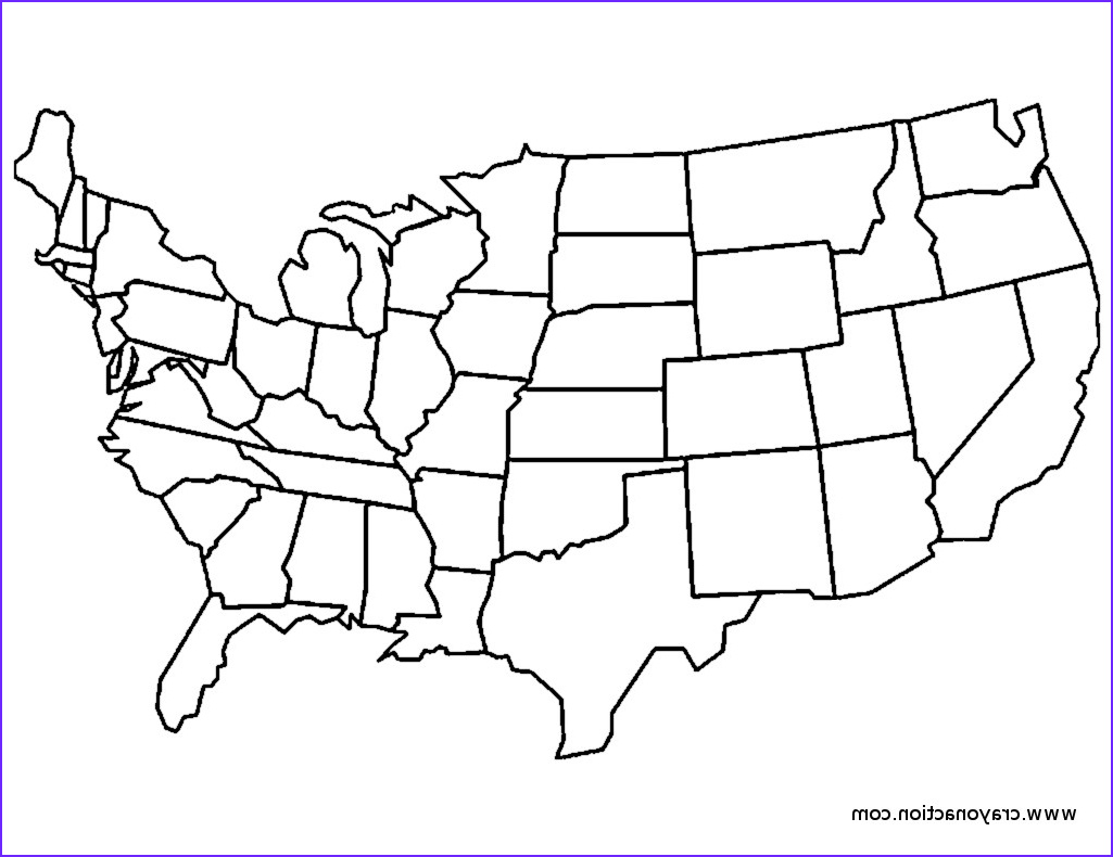 continental usa coloring page