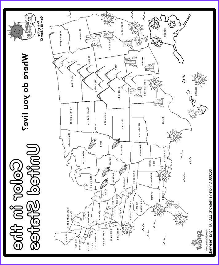 Coloring Map Of Usa Best Of Photos Print and Color Us Map Coloring Page