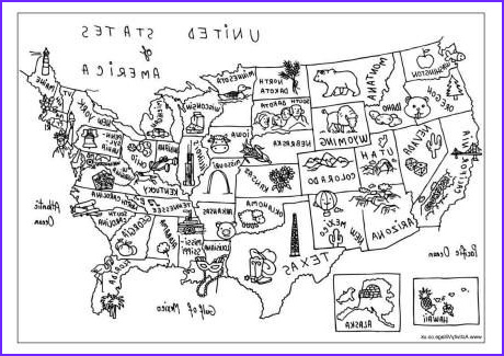 Coloring Map Of Usa Inspirational Images Usa Map Coloring Page Love the Little Symbols