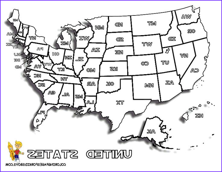 Coloring Map Of Usa Luxury Stock Map Of United States to Print for Kids