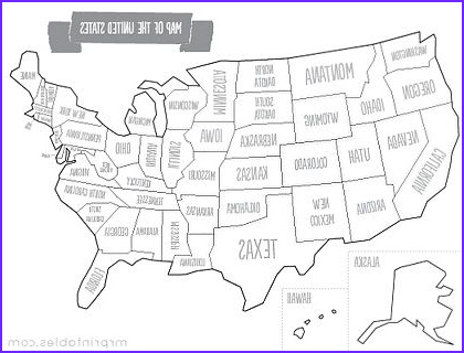 Coloring Map Of Usa New Image Printable Map Of the Usa Color Versions and Other