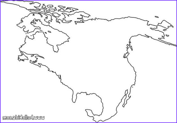 Coloring Maps Of Usa Beautiful Photos north America Coloring Pages Hellokids
