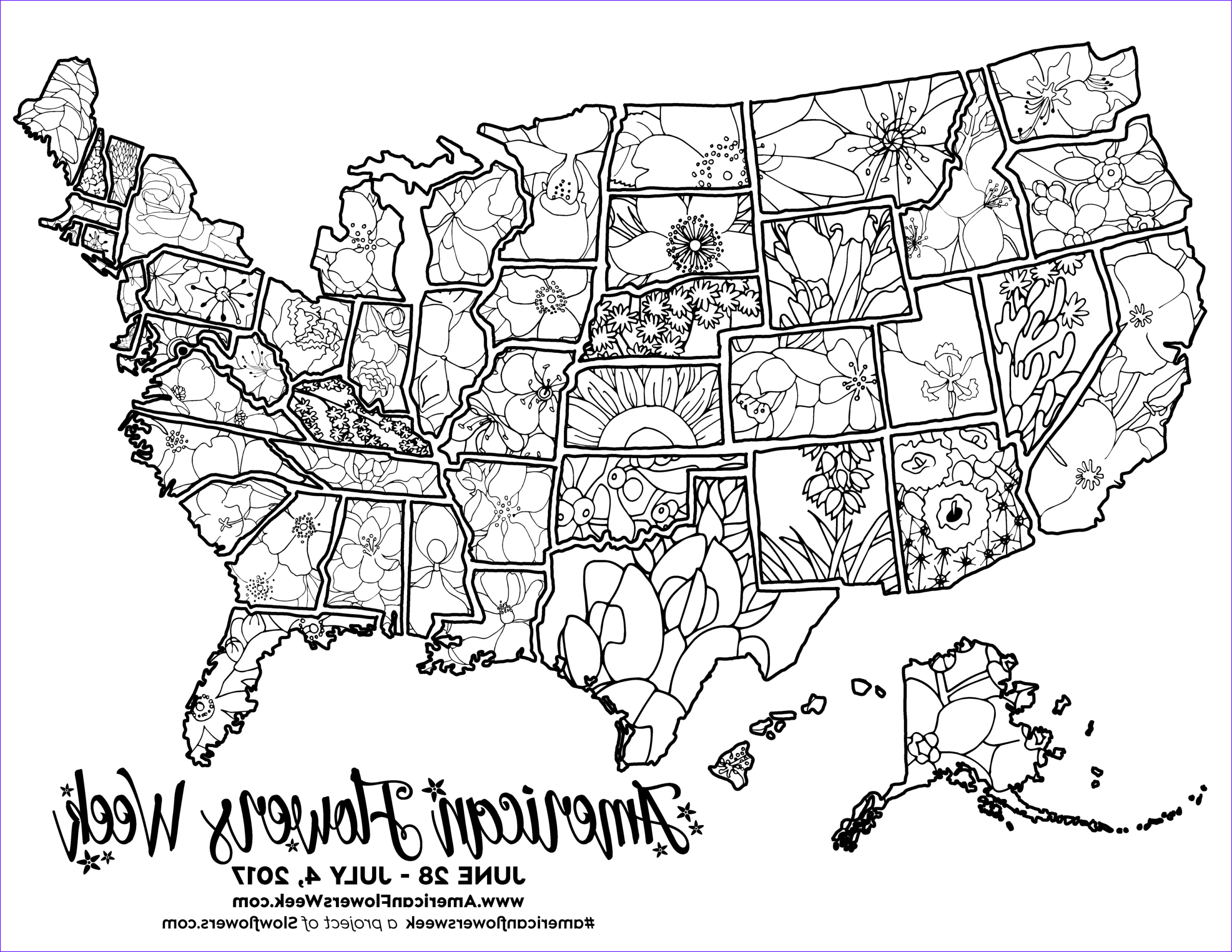 Coloring Maps Of Usa Best Of Image Usa Map Of State Flowers – Free Promotional Material for