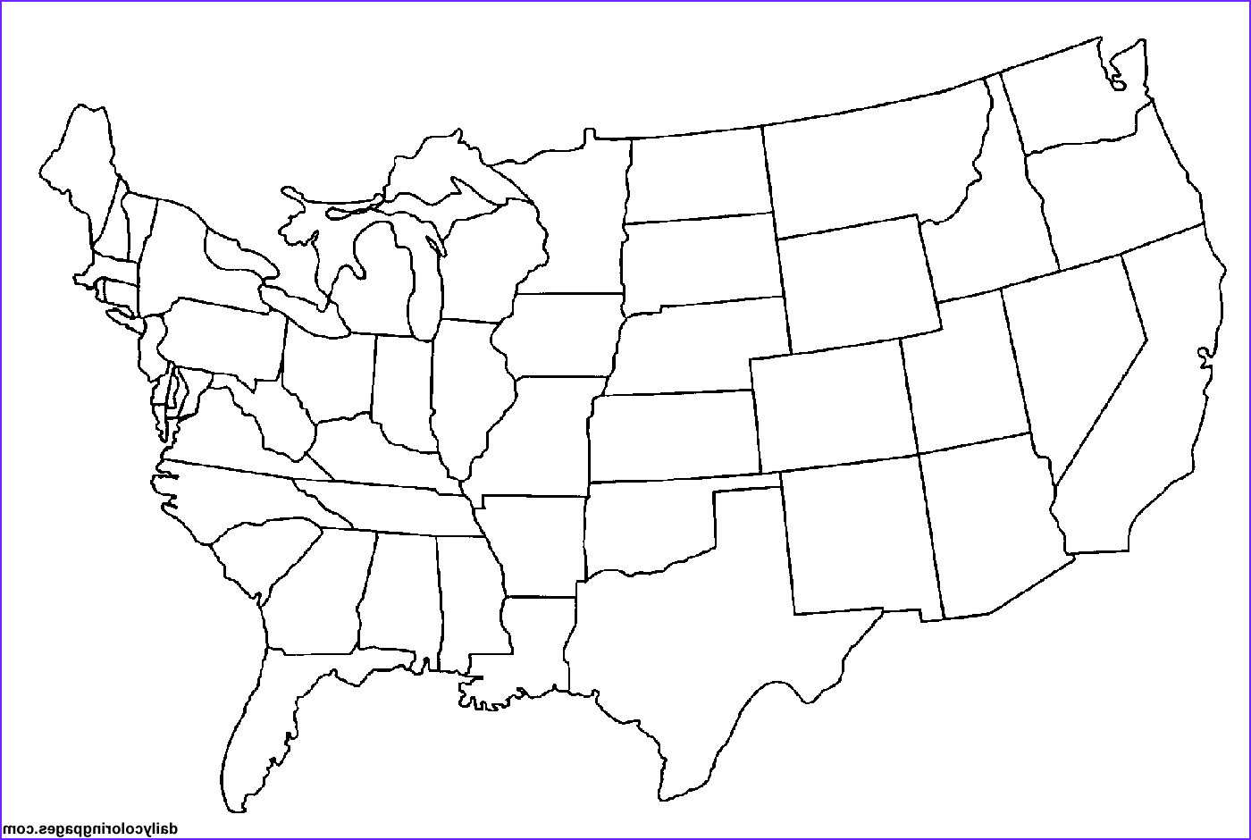 Coloring Maps Of Usa Cool Images 10 Way to Keep Kids Happy In the Car
