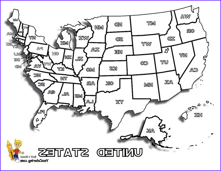 free usa states maps coloring pages