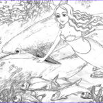 Coloring Mermaid Cool Photos The Ocean And The Mermaids Coloring Page Stock I