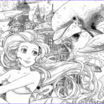 Coloring Mermaid New Photos The Ocean And The Mermaids Coloring Page Stock I