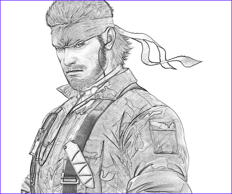Coloring Metal Beautiful Photos Metal Gear solid Snake Characters