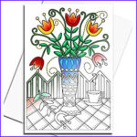 Coloring Note Cards Beautiful Photos Amazon Art Eclect Adult Coloring Flower Greeting