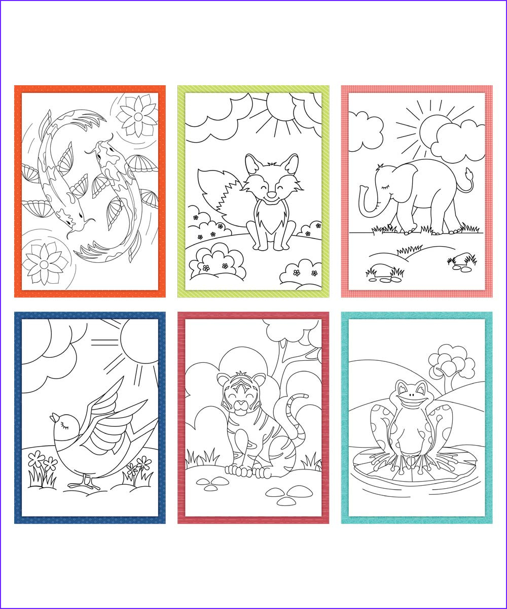 Coloring Note Cards Beautiful Photos Coloring Creations Greeting Cards Critters Mylifetree