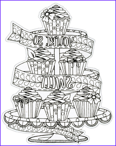 Coloring Note Cards Cool Images Cupcakes Die Cut Coloring Card Blank Note Card by Paper