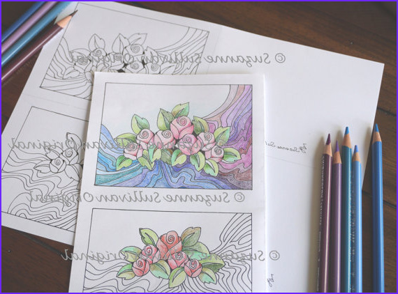Coloring Note Cards New Gallery Printable Note Cards Coloring Page Set Of 2 Dyi Note Cards
