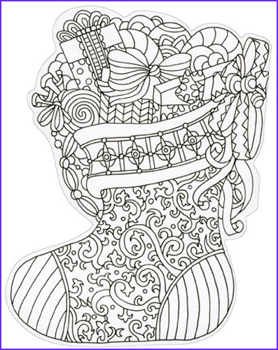 Coloring Note Cards New Stock Stocking Die Cut Coloring Card Blank Note Card by Paper