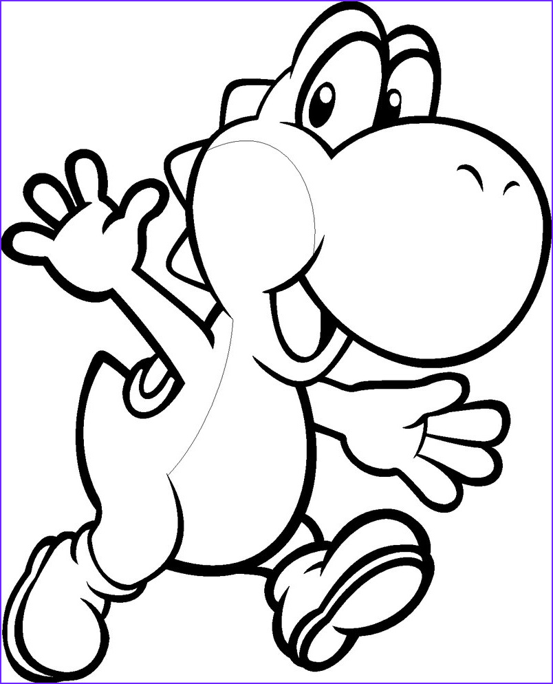 Coloring Paes Beautiful Images Free Printable Yoshi Coloring Pages for Kids