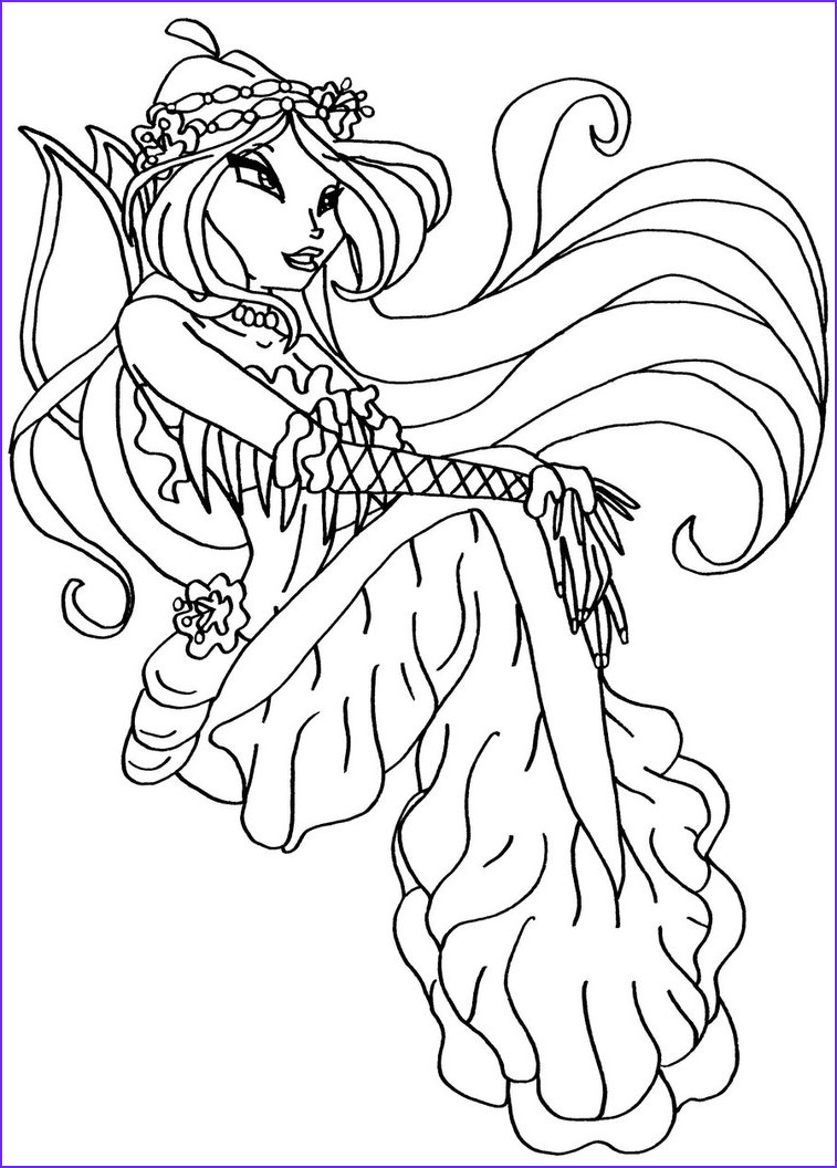 Coloring Paes New Image Winx Mermaid Coloring Pages to Print and for Free