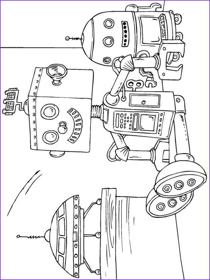 coloring pages 35 robot
