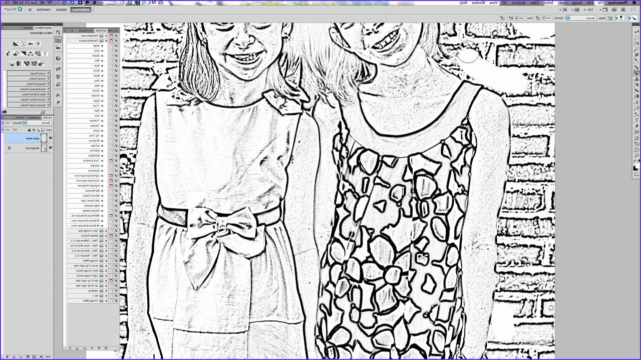 how to make a coloring page in pixlr