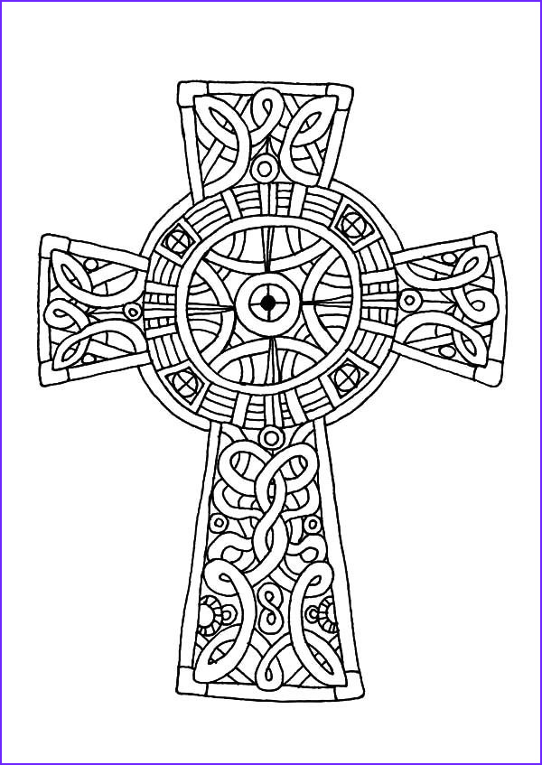 Coloring Page Cross Awesome Photos Celtic Cross Amazing Celtic Cross Coloring Pages