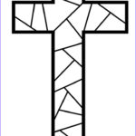 Coloring Page Cross Awesome Photos Stained Glass Christmas To Color Black And White Clipart
