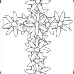 Coloring Page Cross Best Of Photos Cross With Flowers Coloring Page