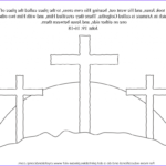 Coloring Page Cross Cool Image Kid Color Pages Easter