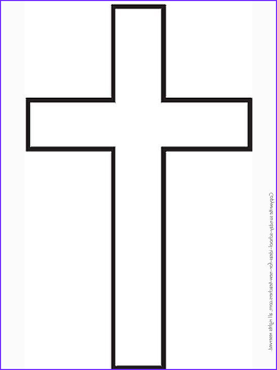 Coloring Page Cross Cool Stock Sunday School Coloring Pages Cross Template