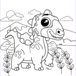 Coloring Page Dinosaur Elegant Collection Cute Dinosaur Coloring Page