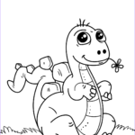 Coloring Page Dinosaur New Stock Cute Little Dinosaur Coloring Page