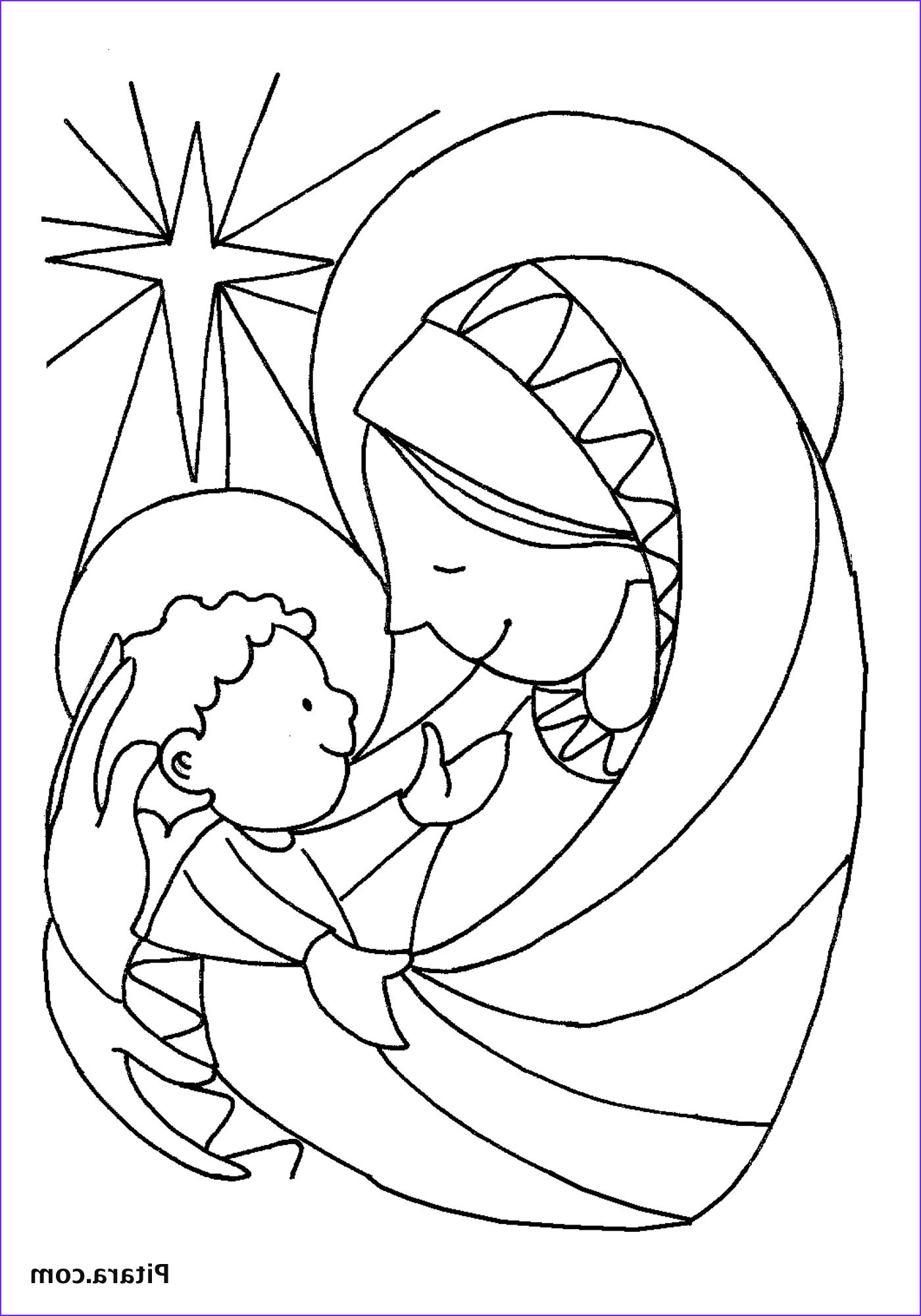 Coloring Page Of Jesus Awesome Collection Mary & Baby Jesus – Coloring Page