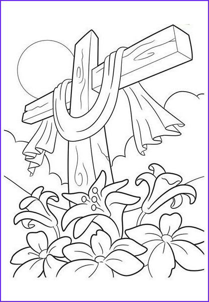 Coloring Page Of Jesus Awesome Image top 10 Free Printable Cross Coloring Pages Line