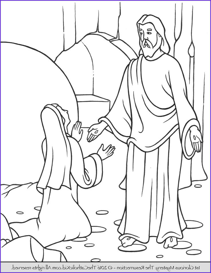Coloring Page Of Jesus Awesome Photos the 1st Glorious Mystery Coloring Page – the Resurrection
