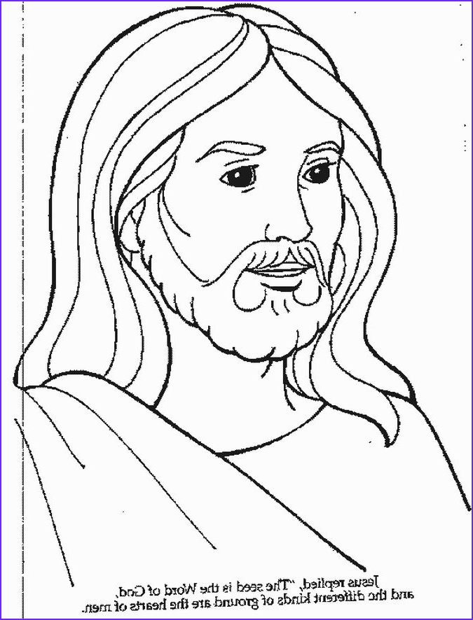 Coloring Page Of Jesus Beautiful Collection Free Printable Jesus Coloring Pages for Kids