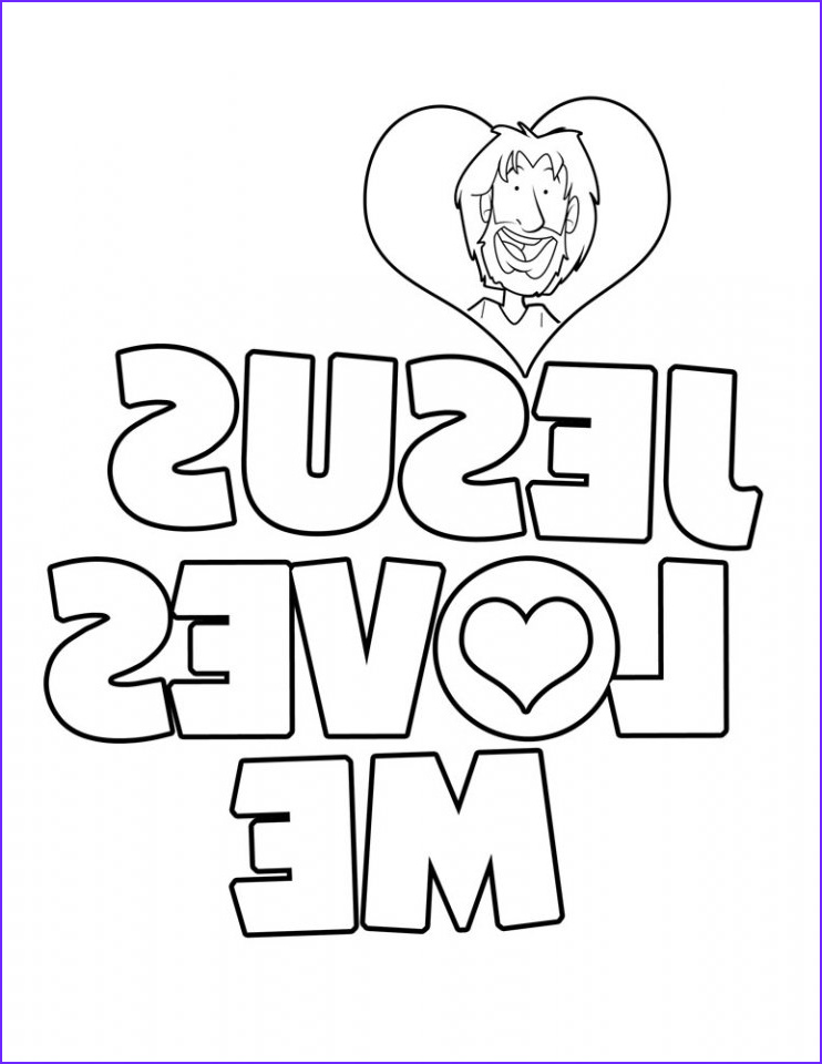 Coloring Page Of Jesus Beautiful Photos Free Printable Christian Coloring Pages for Kids Best