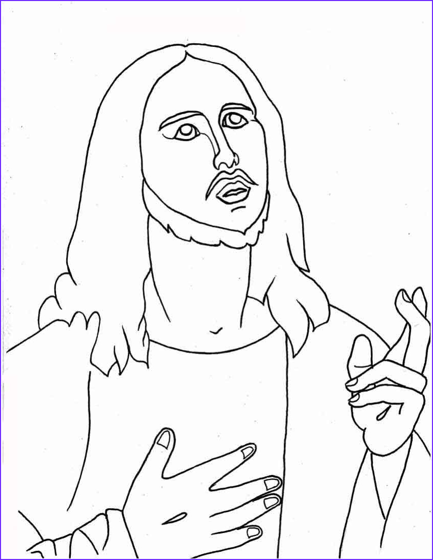 Coloring Page Of Jesus Best Of Photos Jesus Christ Coloring Pages