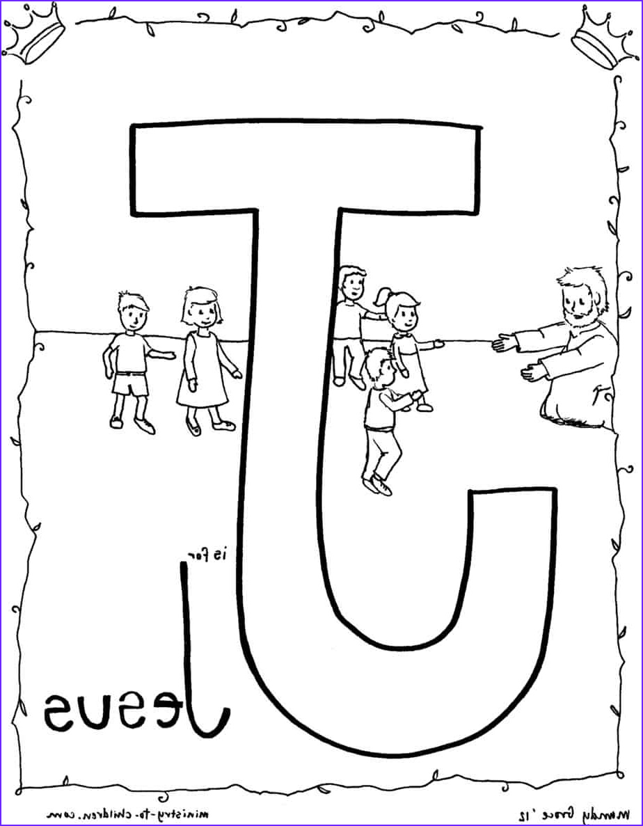 Coloring Page Of Jesus Luxury Stock J is for Jesus Bible Alphabet Coloring Page