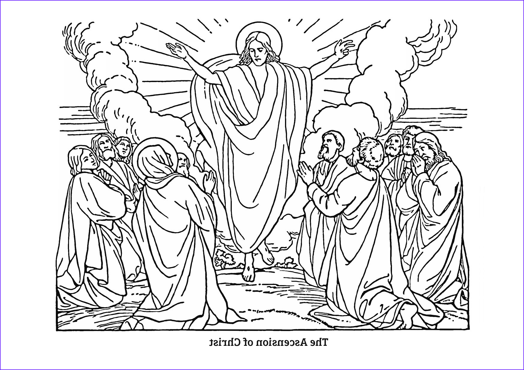 Coloring Page Of Jesus Luxury Stock the ascension 2014 – Colouring Pages – Baildon Methodist