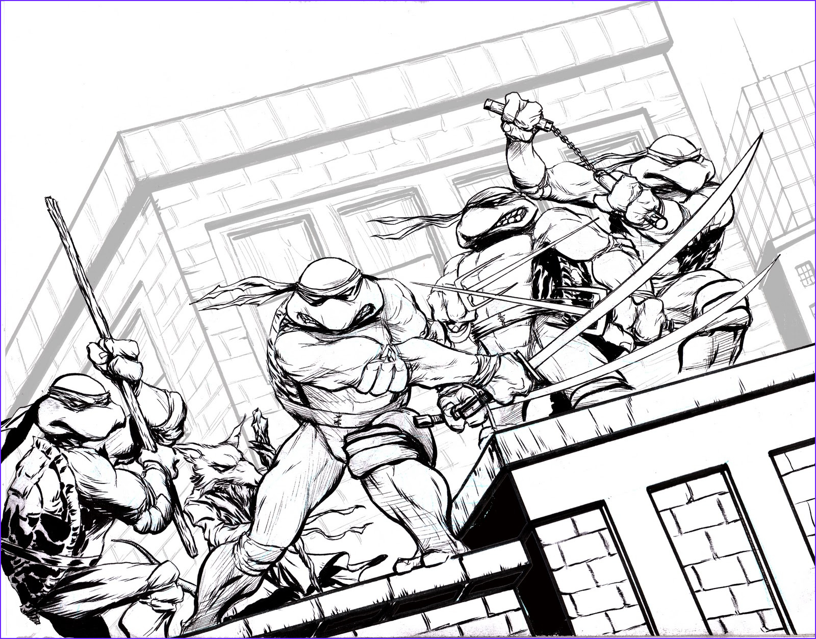Coloring Page Turtle Awesome Images the Art Of Mark Lone Lineart Color