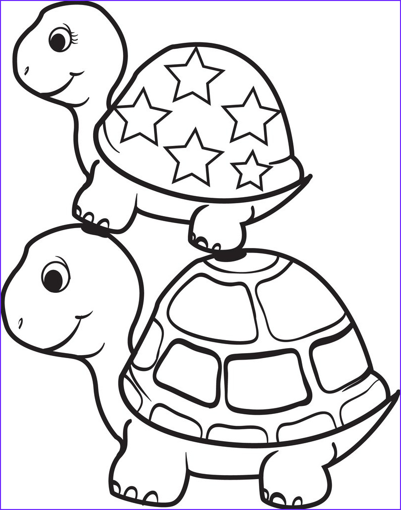 Coloring Page Turtle Beautiful Image Free Printable Turtle top Of A Turtle Coloring Page for