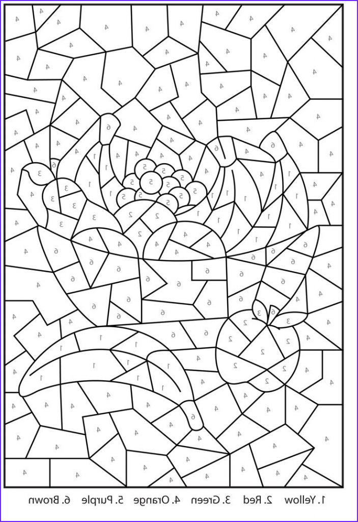 Coloring Pages by Number Beautiful Images Free Printable Color by Number Coloring Pages Best