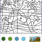 Coloring Pages by Number Cool Stock Whale Color by Number