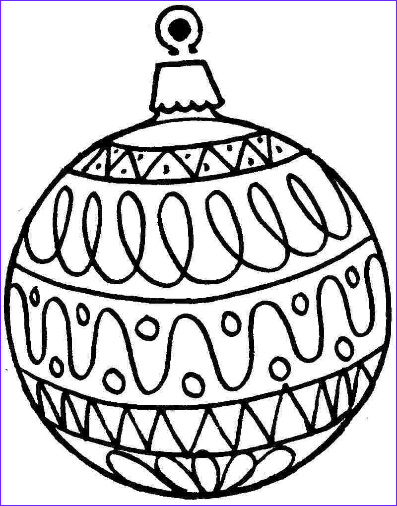 Coloring Pages Christmas ornaments Awesome Image Coloring Christmas ornaments