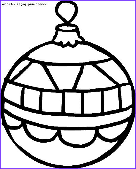 clipart of christmas ornaments to color